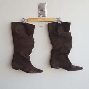 Brown Suede Boots, Pointy Toe